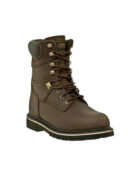 Mc Rae Industrial Work Boots Mens Leather Steel Toe Lacer Brown Mr88344 by Mc Rae Industrial