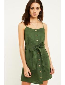 Faithfull The Brand Beso Green Mini Dress by Faithfull The Brand