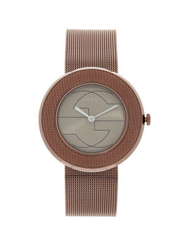 Rose Gold Tone Analogue Watch by Gucci