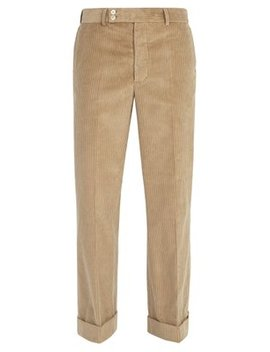 Wide Leg Cotton Corduroy Trousers by Maison Margiela