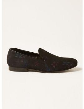 Black Duke Floral Loafers by Topman