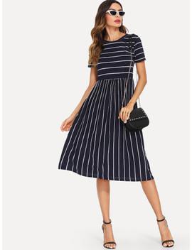 SheinMixed Stripe Smock Dress by Shein