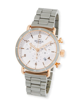 36mm The Guardian Chronograph Bracelet Watch, Two Tone by Shinola