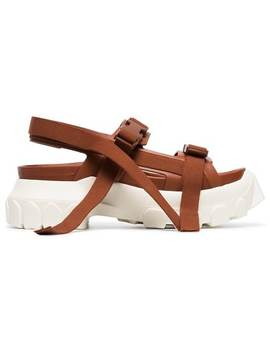 Rick Owensbrown Sisyphus Leather Hiking Sandalshome Women Rick Owens Shoes Sandals by Rick Owens