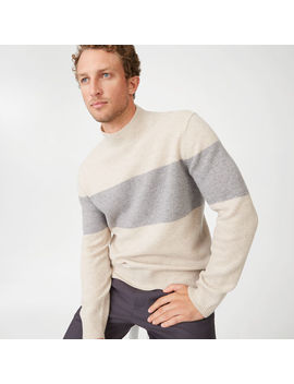 Felted Stripe Mockneck by Club Monaco