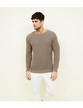 Camel Tuck Stitch Jumper by New Look