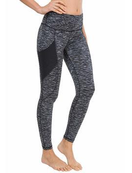 Queenie Ke Women Yoga Leggings Flex Mesh High Waist 3 Phone Pocket Gym Running Tights by Amazon