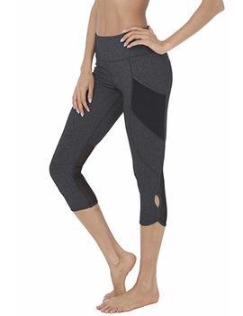 "Queenie Ke Women 22"" Yoga Capris Running Pants Workout Legging   Tummy Control by Amazon"