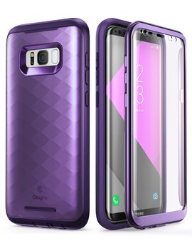 Galaxy S8+ Plus Case, Clayco [Hera Series] Full Body Rugged Case With Built In Screen Protector For Samsung Galaxy S8+ Plus (2017 Release) (Purple) by Clayco