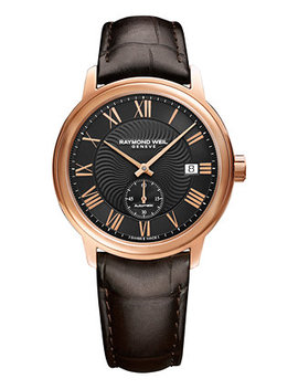 Men's Swiss Automatic Maestro Brown Leather Strap Watch 40mm 2238 Pc5 00209 by Raymond Weil