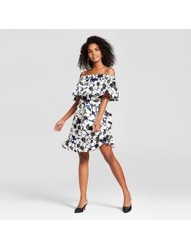 Women's Belted Bardot Mini Dress   Who What Wear™ by Shop All Who What Wear