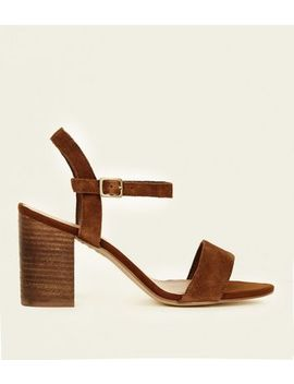 Wide Fit Tan Suede Open Toe Sandals by New Look