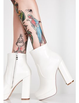 Purely Dangerous Platform Booties by Liliana