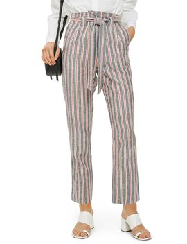 Stripe Peg Trousers by Topshop