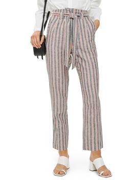 Stripe Peg Trousers by Topshop