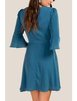 Megan Surplus A Line Dress by Francesca's