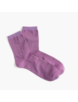 Space Dye Lurex Bootie Socks by J.Crew