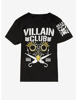 New Japan Pro Wrestling Bullet Club Villain Club Gold Accent T Shirt by Hot Topic