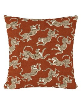 Maroon Animal Print Throw Pillow   Cloth & Co by Shop All Cloth & Co.