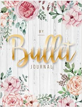 My Bullet Journal: Quarterly Planner With Blank Yearly & Monthly Calendar, And Habit Tracker, 120 Dot Grid & 15 Lined Pages, 8.5x11in, White Wood Large Diary Journal To Write In Everyday Life by Amazon