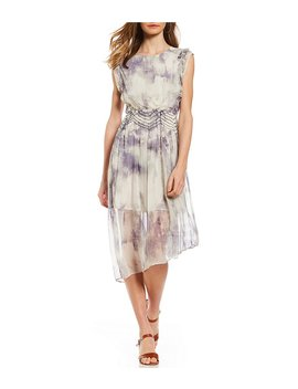 Tie Dye Ruffle Dress by Generic