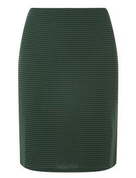 **Tall Green Black Geometric Checked Mini Skirt by Dorothy Perkins