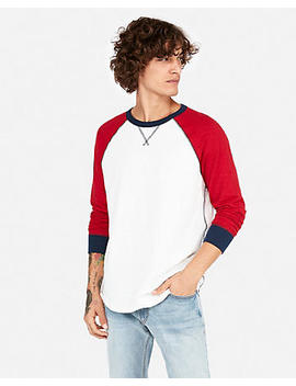Color Block Slub Baseball Tee by Express