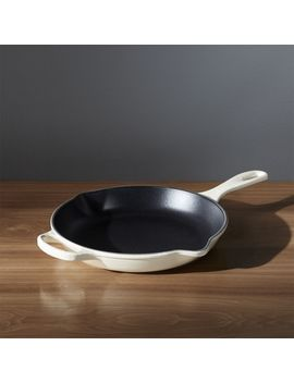 "Le Creuset ® Signature 10"" Cream Skillet by Crate&Barrel"