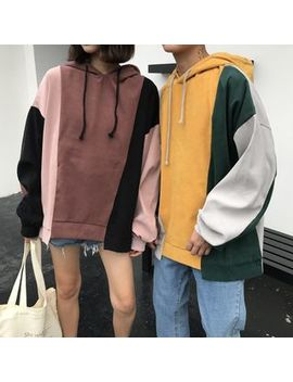 Couple Matching Color Block Hoodie by Balak