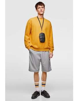 Weites Sweatshirt Mit Rippenmuster  Alles Sehen Sweatshirts Herren by Zara