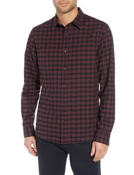 Classic Fit Gingham Sport Shirt by Vince