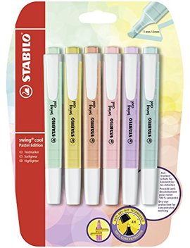 Stabilo B 52740 10 Blister Swing Cool Pastel Highlighter (Pack Of 6) by Stabilo