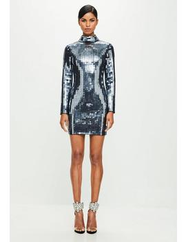 Robe Argentée En Sequins Effet Miroir Peace + Love by Missguided