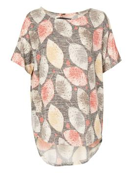 *Tenki Multi Leaf Jersey Top by Dorothy Perkins