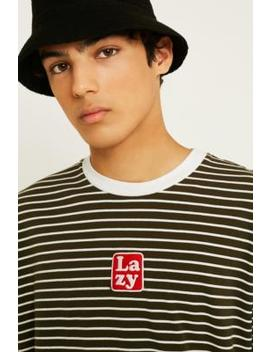 Lazy Oaf Lazy Black Stripe Long Sleeve T Shirt by Lazy Oaf