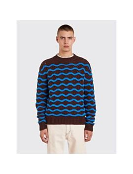Acne Studios Wavy Sweater Brown / Blue by Très Bien