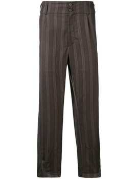 Ann Demeulemeesterstriped Tapered Trousershome Men Ann Demeulemeester Clothing Tapered Trouserslaced Bootsstriped Tapered Trousers by Ann Demeulemeester