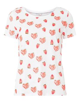 **Only Multi Colour Strawberry T Shirt by Dorothy Perkins