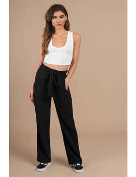 Stillwater The Beach Black Paperbag Waist Pants by Tobi