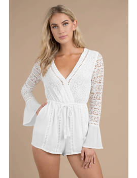 Lost + Wander New Romance White Romper by Tobi