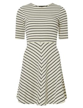 **Vero Moda White Striped Skater Dress by Dorothy Perkins
