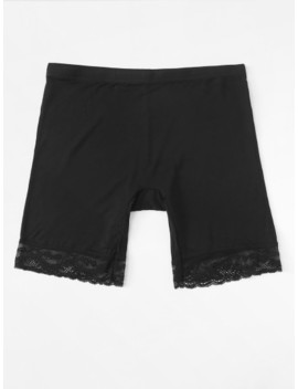 Lace Hem Shortie Shorts by Sheinside