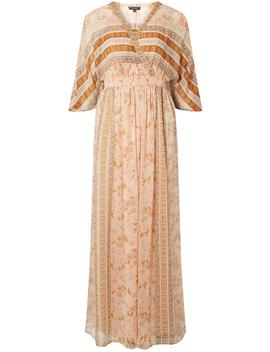Cream Kaftan Floral Print Maxi Dress by Dorothy Perkins