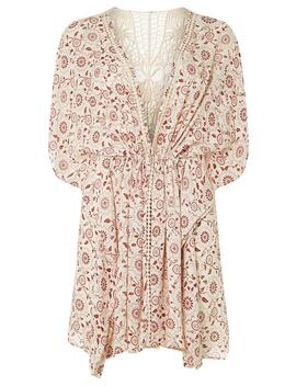 *Dp Beach Ivory Lace Back Printed Kimono by Dorothy Perkins