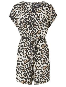 **Tall Leopard Print Playsuit by Dorothy Perkins
