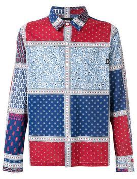 Stussy Hemd In Patchwork Optik Home Herren Stussy Kleidung Hemden by Stussy