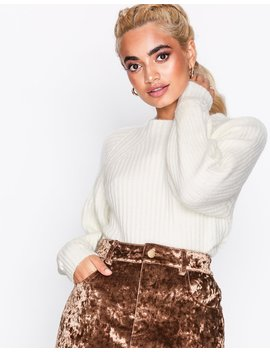 Ribbed Pleat Sleeve Jumper by Missguided