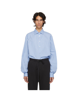 Blue Striped Alessandro Shirt by Gucci