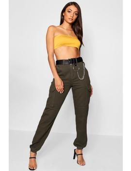 Tall Denim Cuffed Utility Trousers by Boohoo