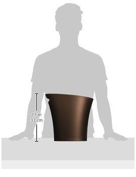 Umbra Skinny Polypropylene Waste Can, 2 Gallon (7.5 L), Set Of 3, Bronze by Umbra